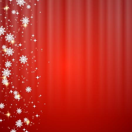 Kerstmis en Nieuwjaar onscherpe rode vector achtergrond