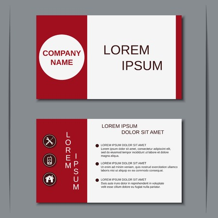 Modern business visiting card, badge, poster, sticker, label vector template Illustration
