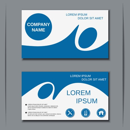 card template: Modern business visiting card design template Illustration