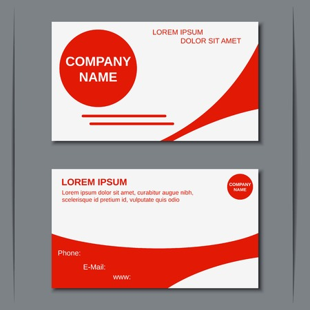 Modern business visiting card design template Illustration