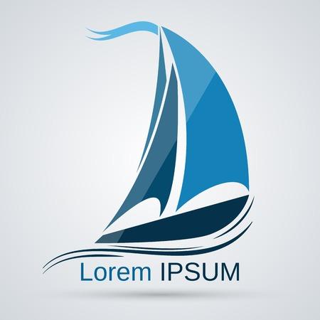 voile: Yacht vecteur icône Illustration