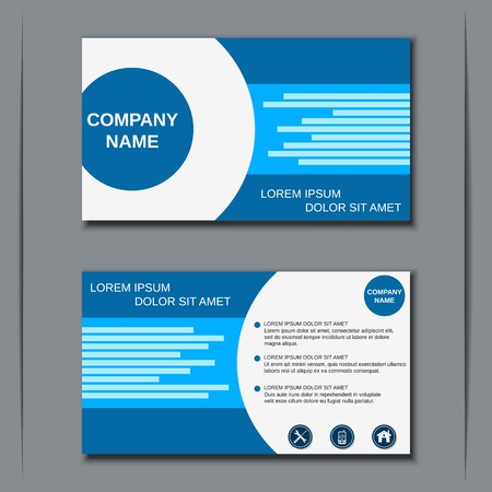 Visiting card, banner, badge, poster, sticker, coupon, voucher, label vector template Ilustracja