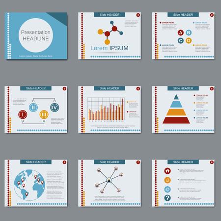 slide show: Business presentation, slide show, brochure, booklet, flyer, layout, poster vector design template