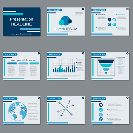 slide show: Business presentation, slide show, brochure, booklet, flyer, layout, poster vector design template
