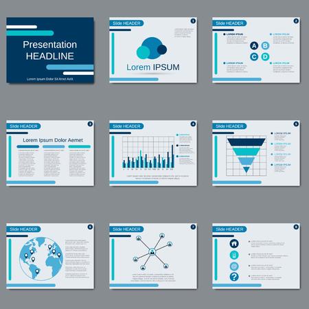 Zakelijke presentatie, slide show, brochure, boekje, flyer, lay-out, poster vector design template