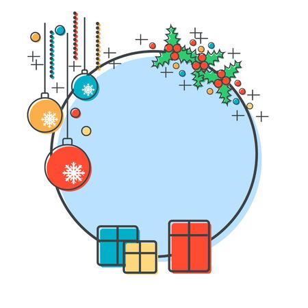 christmas present: Christmas and New Year vector illustration