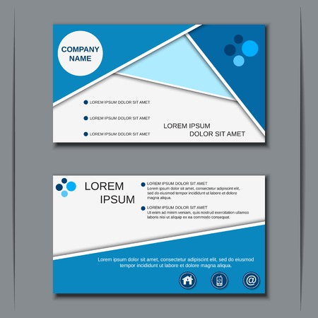 visit card: Visiting card, banner, badge, poster, sticker, coupon, voucher, label vector template Illustration