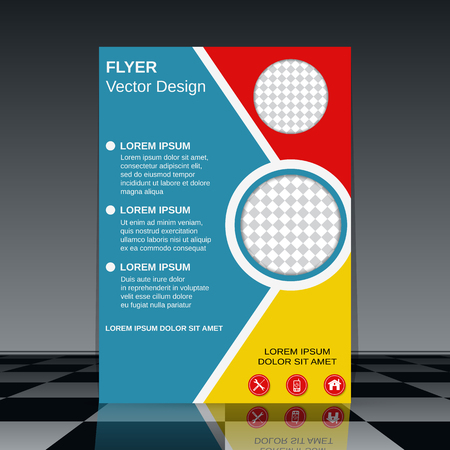 blank brochure: Business flyer vector design template