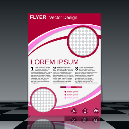 Brochure cover vector template