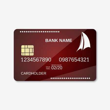 Bank card, credit card design template Illustration