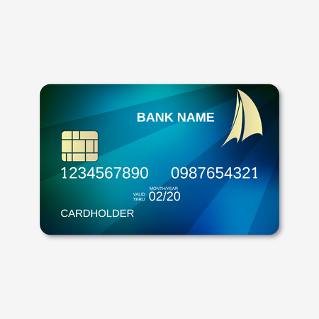 sales bank: Bank card, credit card design template Illustration