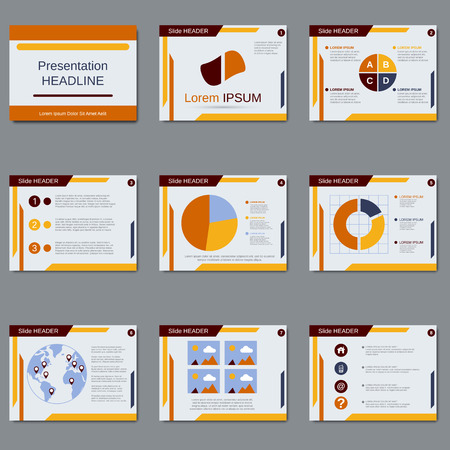 business team: Professional business presentation vector design template Illustration
