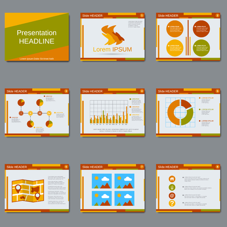 Professional business presentation vector design template Illustration