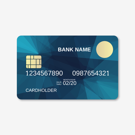 Bank card, credit card, discount card design template Illustration