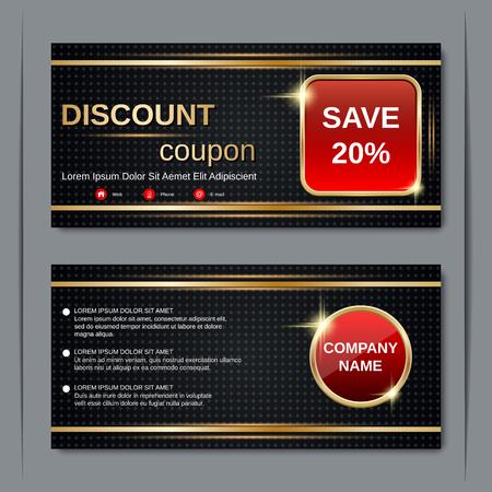 financial reward: Discount coupon, gift voucher, gift certificate, sticker template