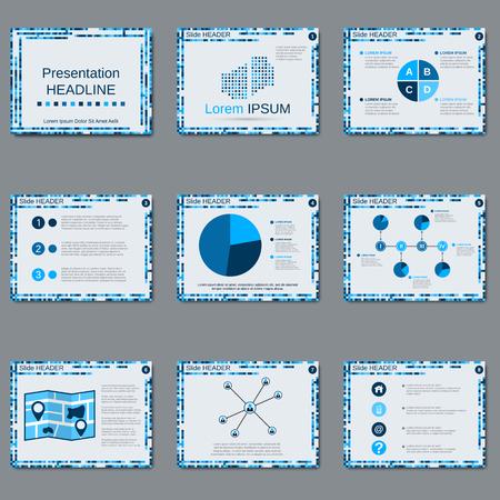 slide show: Professional business presentation, slide show, brochure, booklet,layout, poster design template