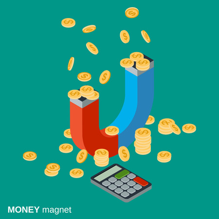 increment: Money magnet, investments attracting, funds accumulation concept