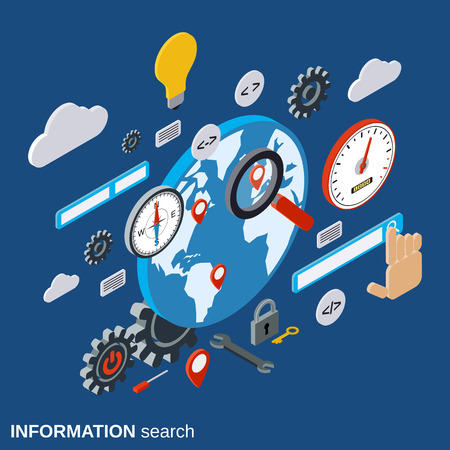 Global information search, SEO optimization, web search vector concept