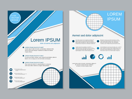 Professional two-sided vector booklet design Illustration