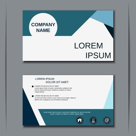 Visiting card vector design template Vektorové ilustrace