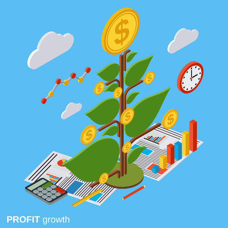 investment concept: Money tree, investment, growth vector concept