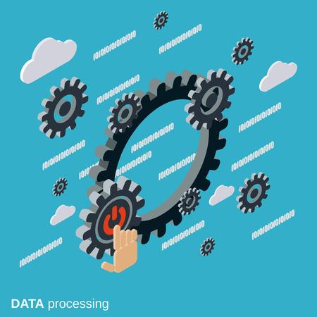 Datenverarbeitung, Cloud-Computing-Vektor-Konzept