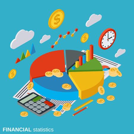 market trends: Financial statistics, analysis, business infographic, market trends diagram, business report vector concept