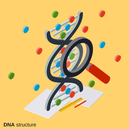 DNA structure, genetics vector illustration