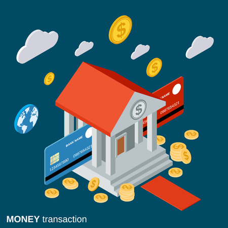 money transfer: Money transfer, financial transaction, banking vector concept Illustration