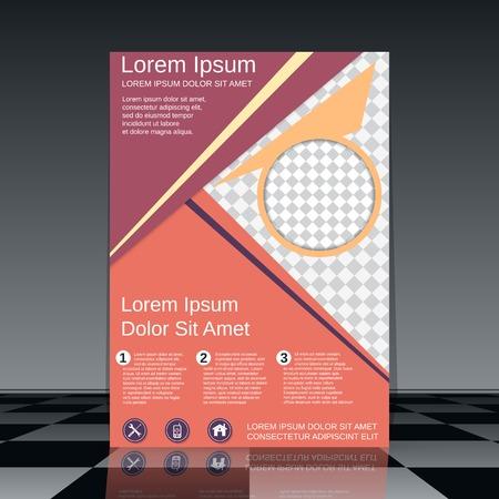 Professional booklet vector design template Illustration