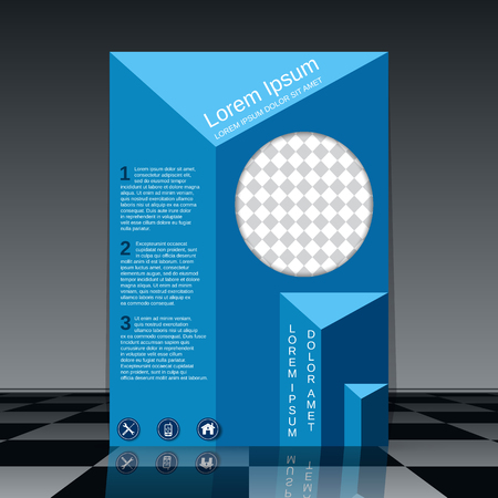 professional booklet vector design template royalty free cliparts