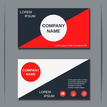 Modern business visiting card vector template