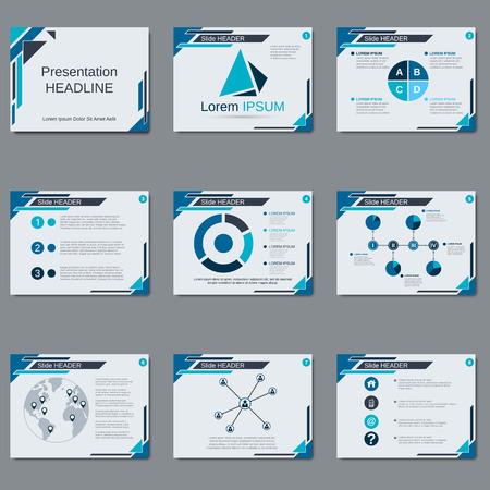 slide show: Professional business presentation, slide show vector template