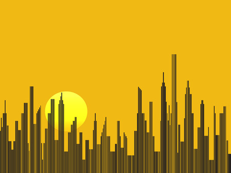 city background: Abstract city silhouette vector background Illustration