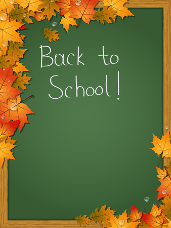 fall leaf: Back to school, education vector background