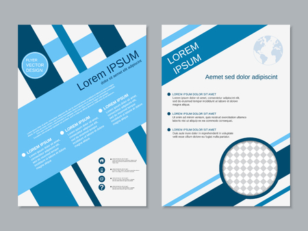 format: Professional modern two-sided flyer vector abstract design template