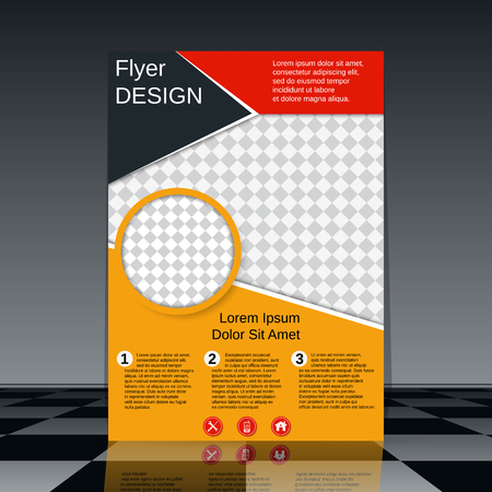 Professional business flyer vector design template.