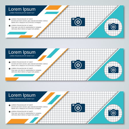 Abstract geometric banners vector templates collection