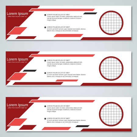 Abstract geometric banners templates collection
