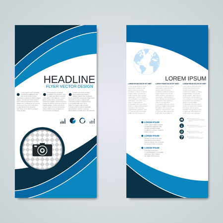 rollup: Modern roll-up business banners vector design template