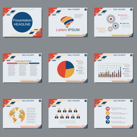 Professional business presentation, slide show vector design template Stock Vector - 79539861