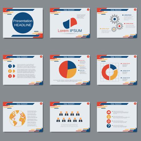 Professional business presentation, slide show vector design template Stock Vector - 79539862