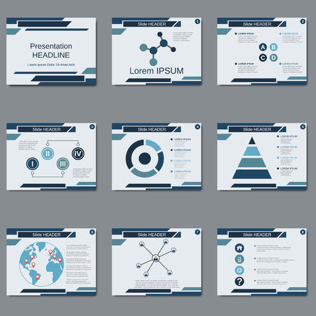 slide show: Professional business presentation, slide show vector design template