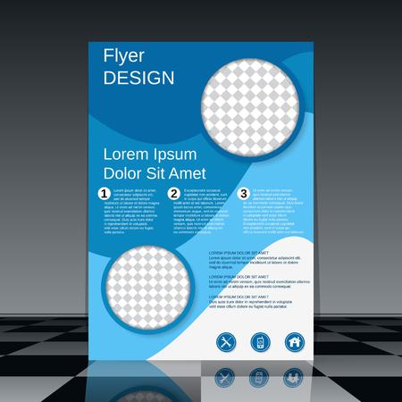 Professional business flyer vector design template Illusztráció