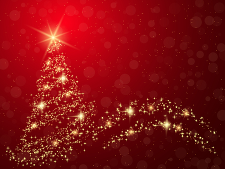 Christmas and New Year red vector background