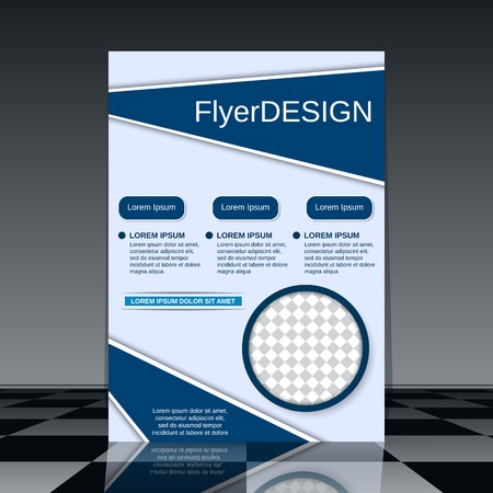 Professional business flyer vector design template Illusztráció