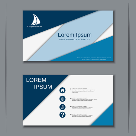 Business visiting card vector design template 일러스트