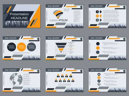 Professional business presentation, slide show vector design template