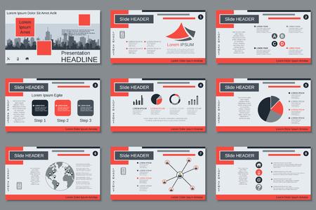 Presentación de negocios profesional, plantilla de diseño de vector de presentación de diapositivas Ilustración de vector
