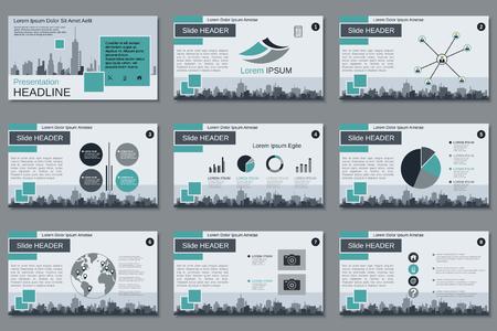 Presentación de negocios profesional, plantilla de diseño de vector de presentación de diapositivas